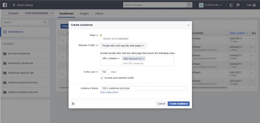 Facebook reklamos būdas visiems svetainės lankytojams