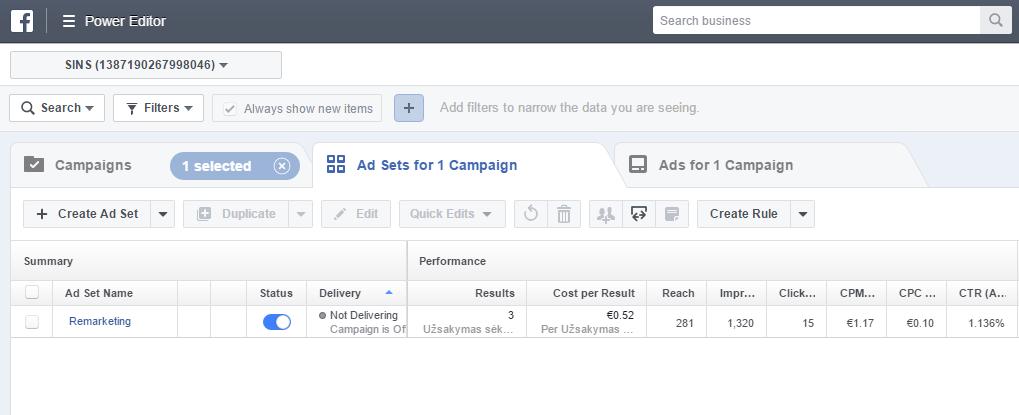 Facebook remarketingo kompanija